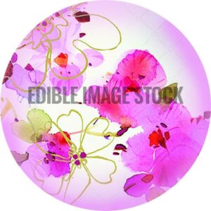 Mum rounded watercolour flowers