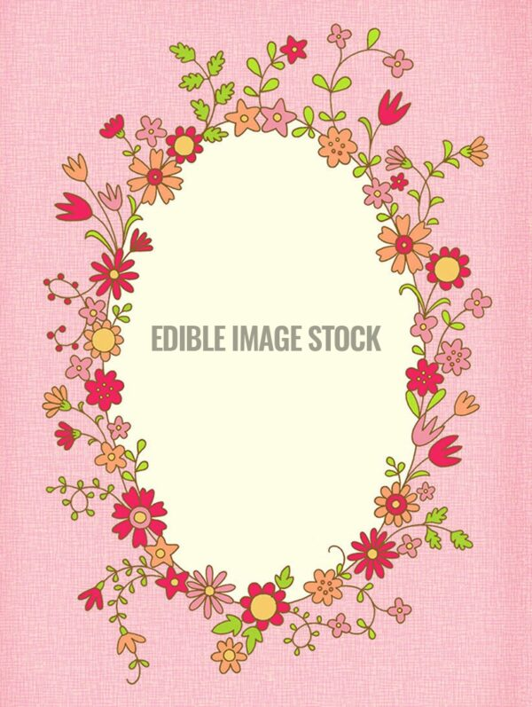 Mother\'s Day flower frame background - Edible Image Stock