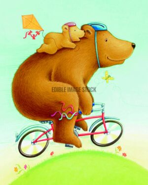 Fathers Day bear bicycle