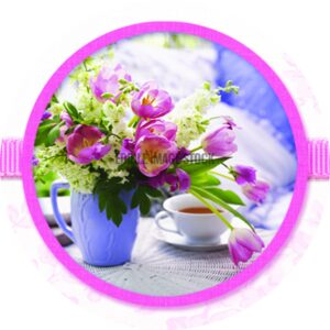 mothers day round flower tea