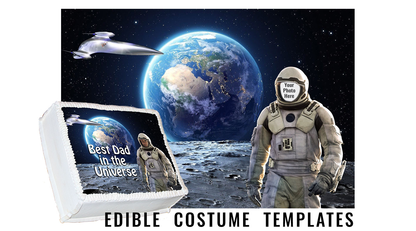 astronaut edible costume template